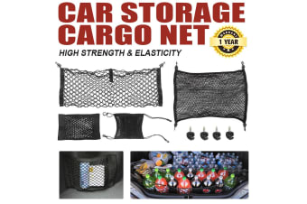 SAN HIMA 4Pcs Universal Car Cargo Net Seat Boot Tidy Organizer Storage Trunk Luggage