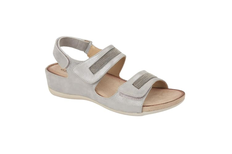 Boulevard Womens/Ladies Triple Touch Fastening Sandals (Light Silver) (9 UK)