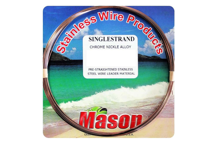 30ft Coil of 27lb Mason Single Strand Stainless Steel Wire Fishing Leader