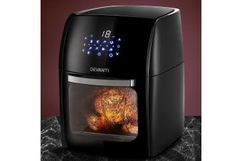Devanti 9L Air Fryer LCD Digital Low Fat Oven Airfryer Healthy Kitchen Cooker
