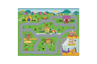 The Wiggles Foam Megamat/Playmats/Playset 61x47in w/ Assorted Vehicle Kids 3y+