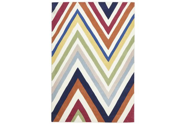 Stunning Multi Coloured Chevron Rug225x155cm