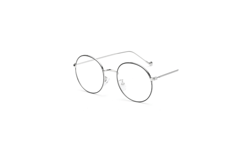 Classic Round Shape Metal Frame Nearsighted Myopia Glasses - 5 Silver 400 Degrees Myopia