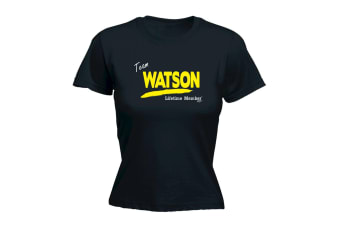Its a Surname Thing Funny Tee - Watson V1 Lifetime Member - (Large Black Womens T Shirt)