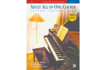 Alfred's Basic Adult All-In-One Course, Bk 2 - Lesson * Theory * Solo, Book & CD