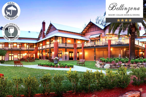 HEPBURN SPRINGS: 1 Night at Bellinzona Resort for Two (Deluxe Superior Room)