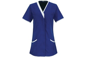 Premier Womens/Ladies Daisy Healthcare Work Tunic (Pack of 2) (Royal/ White) (10UK)