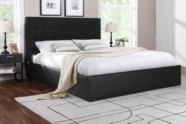 Ovela Bed Frame - Symphony Collection (Black, Queen)