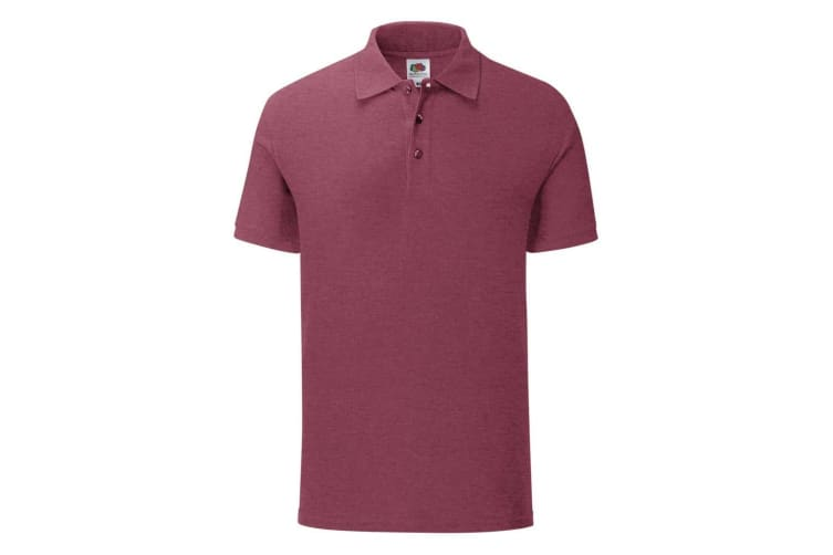 Fruit Of The Loom Mens Iconic Pique Polo Shirt (Heather Burgundy) (L)