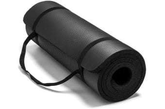 15MM Thick Yoga Mat Non Slip Durable Exercise Fitness Gym Mat Lose Weight Pad black