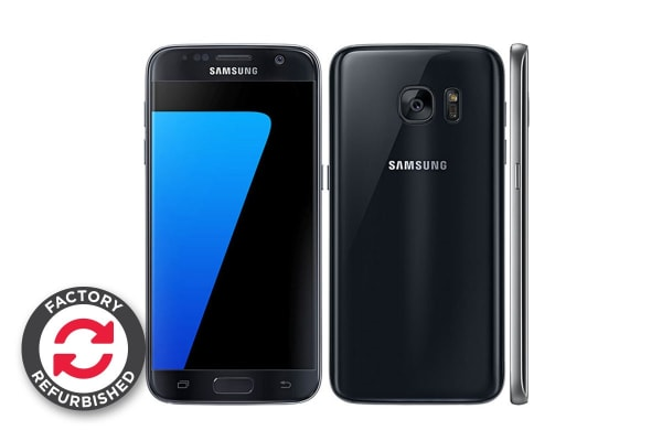 samsung galaxy s7 dual sim 32gb black refurbished. Black Bedroom Furniture Sets. Home Design Ideas