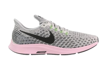 Nike Air Zoom Pegasus 35 (Vast Grey/Pink Foam/Lime Blast/Black, Size 6.5 US)