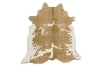 Exquisite Natural Cow Hide Beige White 170x180cm