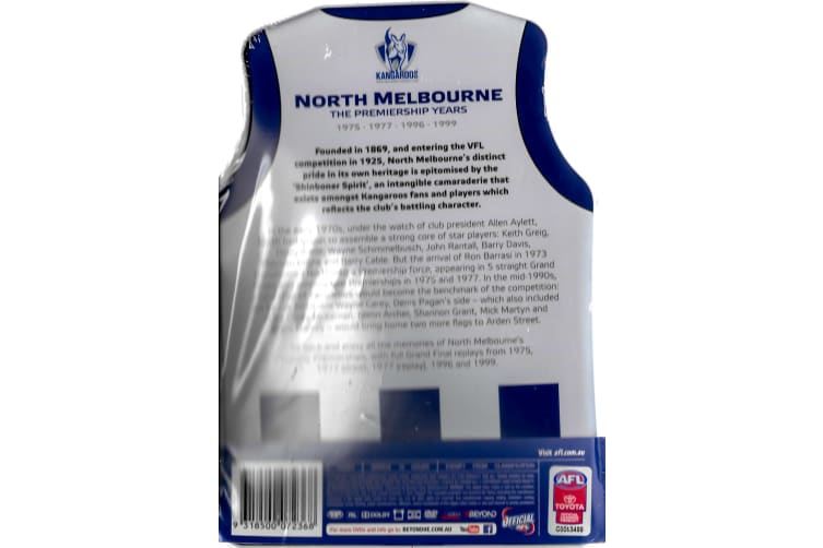 AFL: NORTH MELBOURNE The Premiership Years  New/Bent Tin