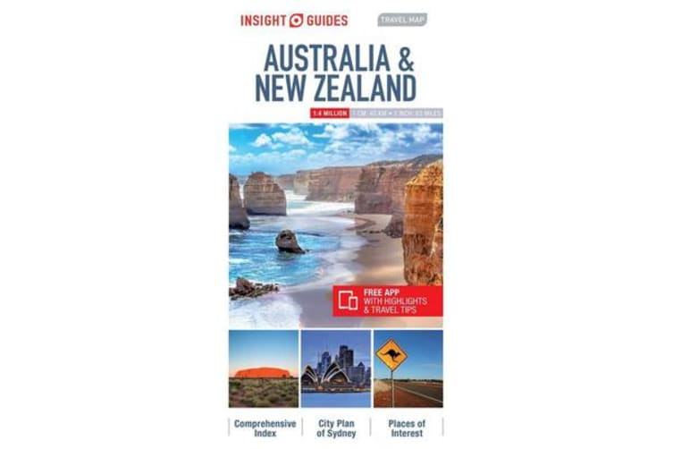 Insight Guides Travel Map Australia & New Zealand
