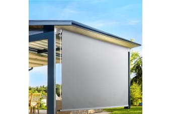 Retractable Straight Drop Roll Down Awning Patio Shade3.0X2.5M