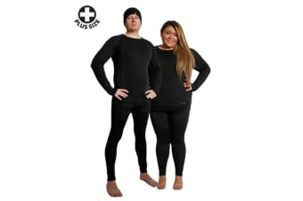 XTM Adult Unisex Thermal Tops Plus Size Merino Top Black - 4-5Xl
