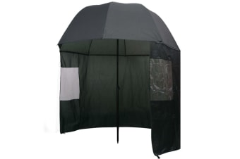 vidaXL Fishing Umbrella Green 300x240 cm