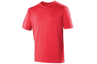 Just Cool Kids Unisex Sports T-Shirt (Fire Red) (5-6)