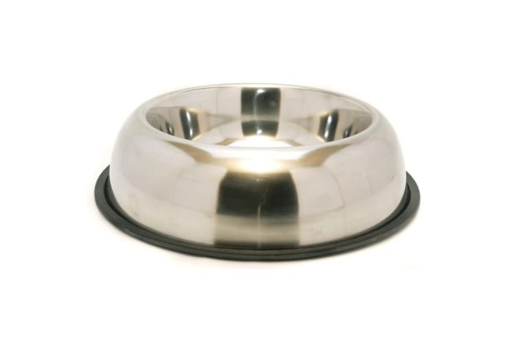 Rosewood Non Slip Stainless Steel Pet Bowl (Silver) (8.5in)