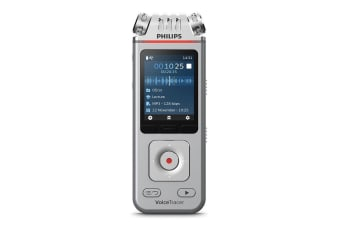 Philips VoiceTracer Audio/Voice Recorder for Lectures w/ 3 Microphone Silver