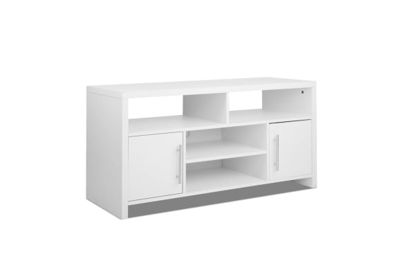 Superbe 120cm TV Stand Entertainment Unit Adjustable Cabinet (White)
