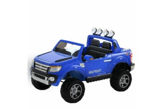 Bopeep Kids Ride On Car Electric Toy Battery Built-in Songs Remote Control Blue