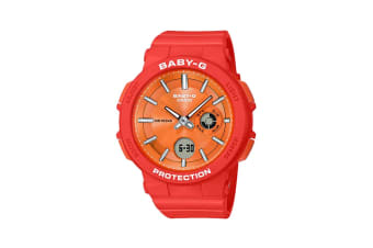 Casio Baby-G Analog Digital Watch with Resin Band - Red/Orange (BA255-4A)