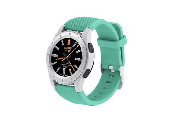 Bluetooth V4.0 Smart Watch Touch Lcd Rechargeable Heart Rate Monitor Blue