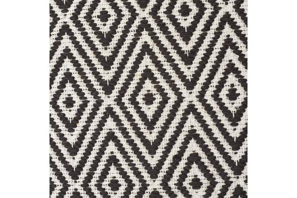 Modern Flatweave Diamond Design Black Rug 225x155cm