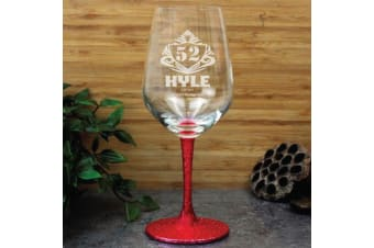 Personalised Birthday Engraved Wine Glass 450ml (M)
