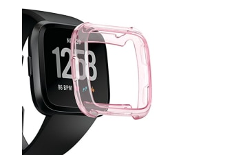 Tpu Soft Accessories Protective Case Frame Cover Shell For Fitbit Versa Smart Fitness Watch Pink