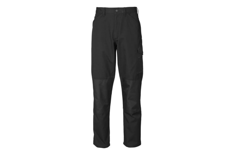 ID Mens Reinforced Fitted Worker Trousers (Black) (56)