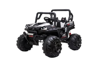 ROVO KIDS Electric Ride-On Car ATV 4WD Boys Toy Toddler Motorised Battery Black