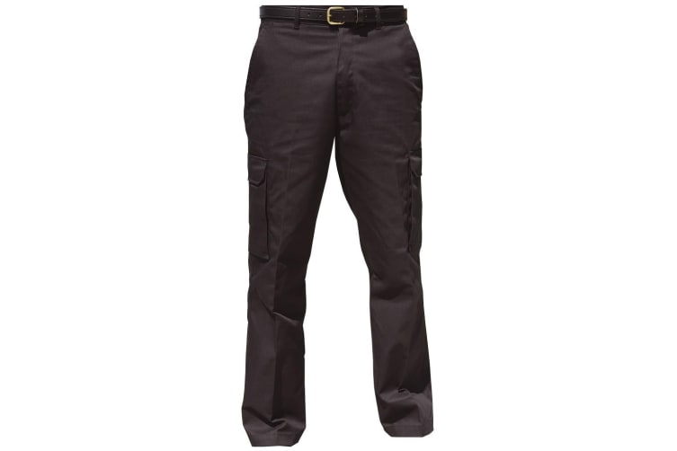 Warrior Mens Cargo Workwear Trousers (Black) (34/R)