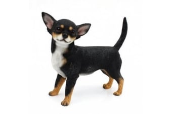 Chihuahua Dog Figurine (Black/Tan)