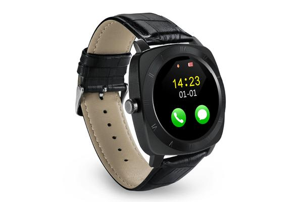 """TODO Bluetooth V3.0 Smart Watch Fitness Tracker 1.33"""" Lcd Rechargeable Handsfree - Black"""