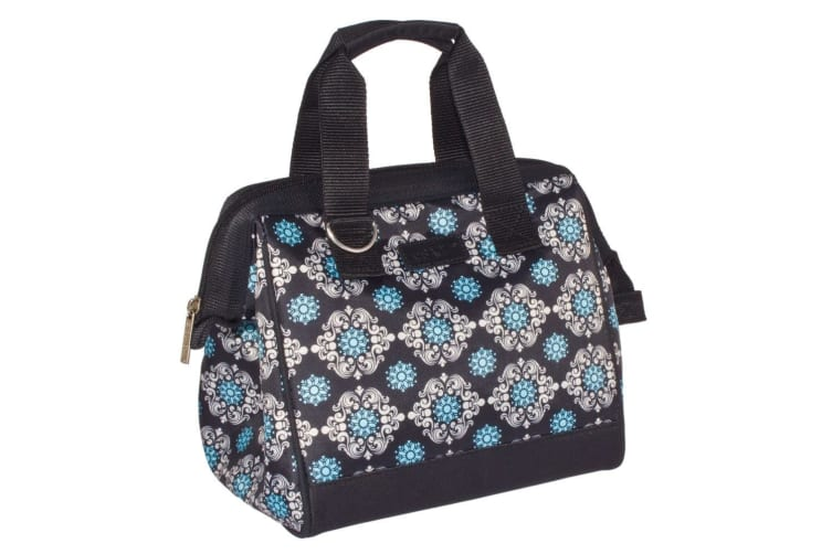 2PK Sachi Thermal Insulated Picnic Lunch Cold Box Bag Moroccan NVY BLK Medallion