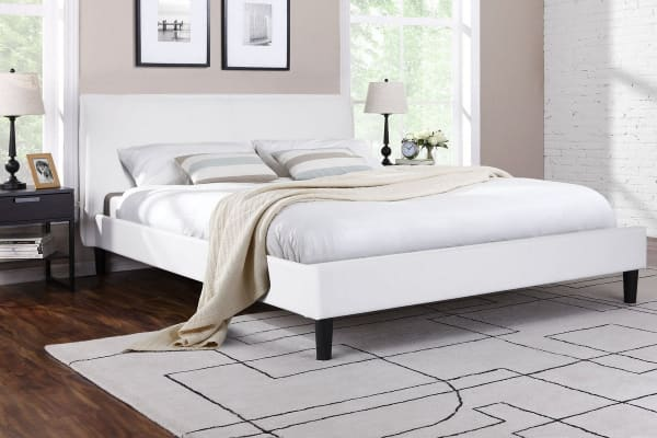Ovela  Bed Frame - Alto Collection (White, Queen)