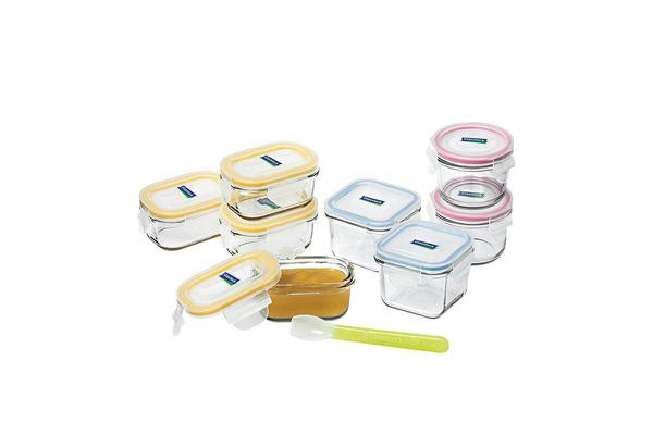 Glasslock Baby Food Container 9pc Set w/ Spoon