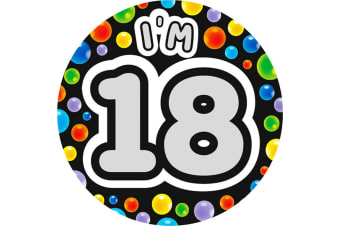 Expression Factory Age 18 Giant Badge (Multicoloured)