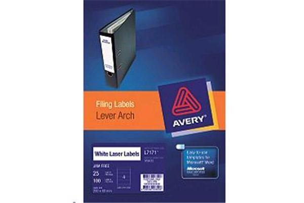 AVERY LEVER ARCH LABEL L7171 25 SHEET