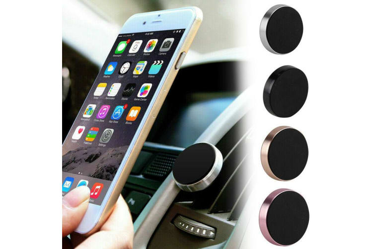 Universal Magnetic Mount Car Phone Holder Mobile For GPS iPhone iPad Samsung SET-Black
