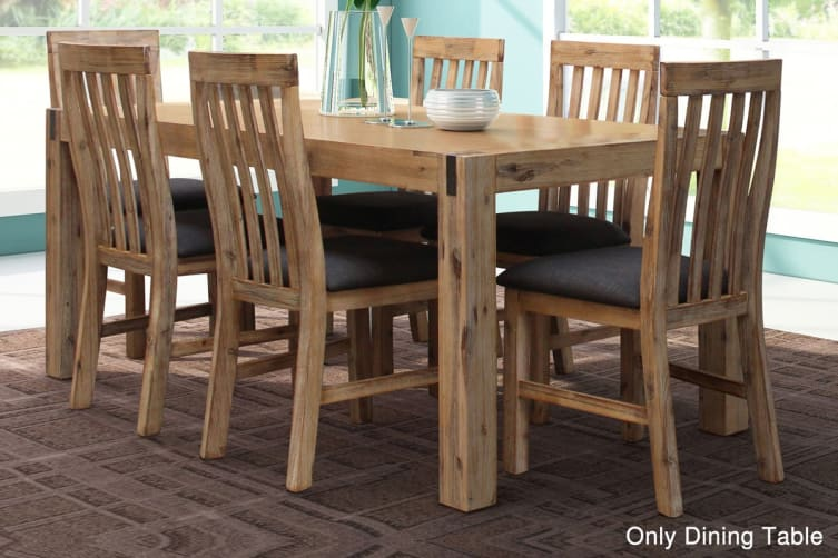 Melbournians Furniture 1.8m Long Dining Table Oak (Color)