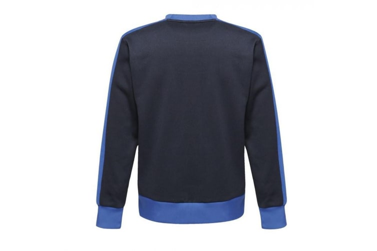Regatta Mens Contrast Crew Sweater (Navy/New Royal Blue) (XL)