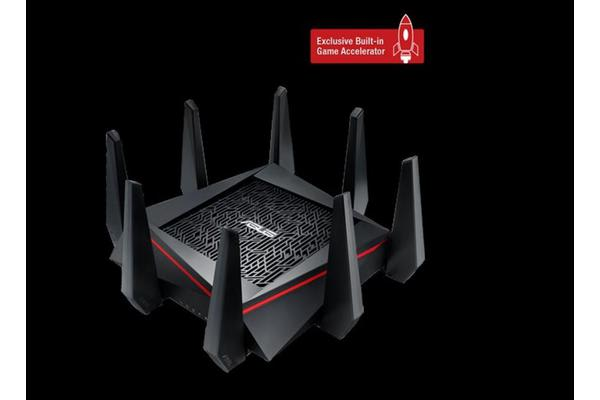 ASUS RT-AC5300 MU-MIMO Gigabit Wireless Gaming Router, Tri-Band & Quad-Stream AC5300, 4 x Gigabit LAN Ports, 2 x USB, 8 x High Performance Antennas,