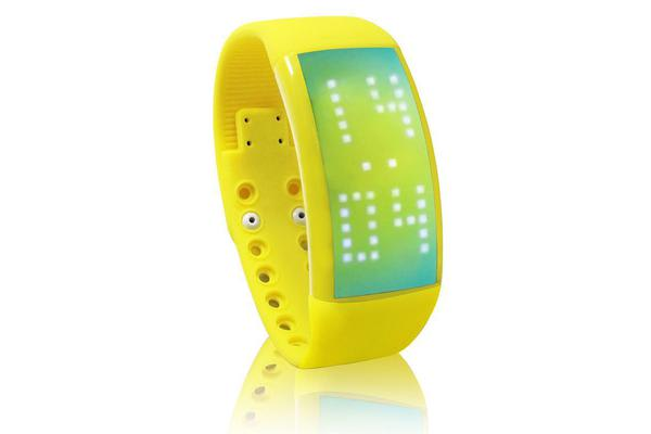 Pedometer Smart Bracelet Watch 3D Fitness Band Health Tracker Yellow