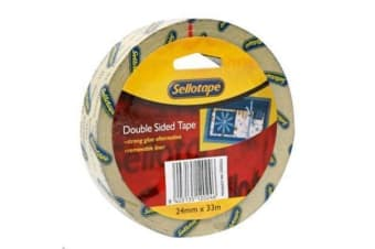 SELLOTAPE Double Sided Vinyl 24mmx33m
