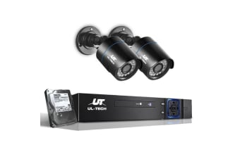 UL Tech 1080P CCTV Security Camera HDMI 4CH DVR Video Home Outdoor IP System