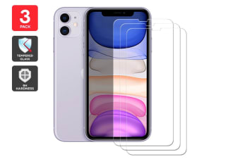 3 Pack iPhone 11 Premium 9H Tempered Glass Screen Protector